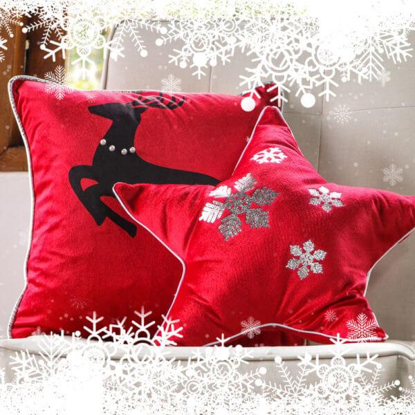 2 Estrellas Navidad Rojas