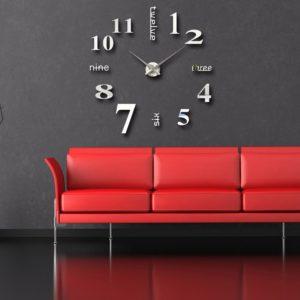 Reloj de pared Romi negro