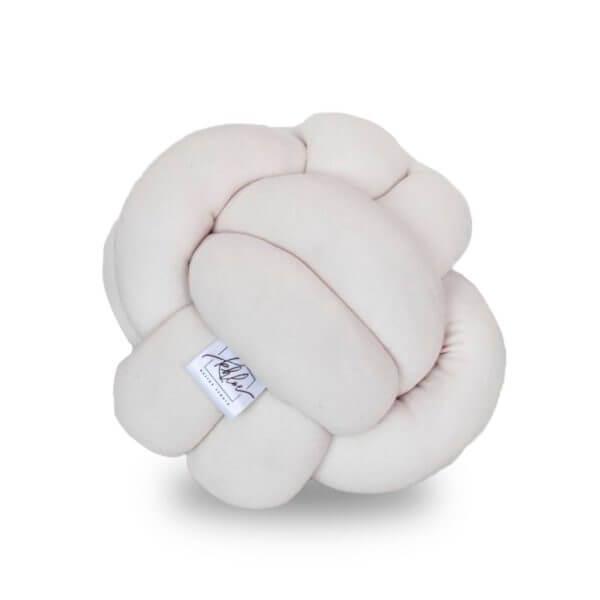 Cojin decorativo de nudos ana crema ebani