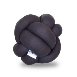 Cojin decorativo de nudos ana gris oscuro ebani