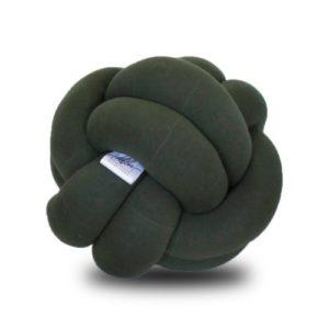 Cojin decorativo de nudos ana verde oliva ebani
