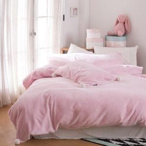 Edredon o Duvet rosado pompones Ebani