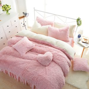 Edredon o Duvet falpa plus ovejero rosado Ebani