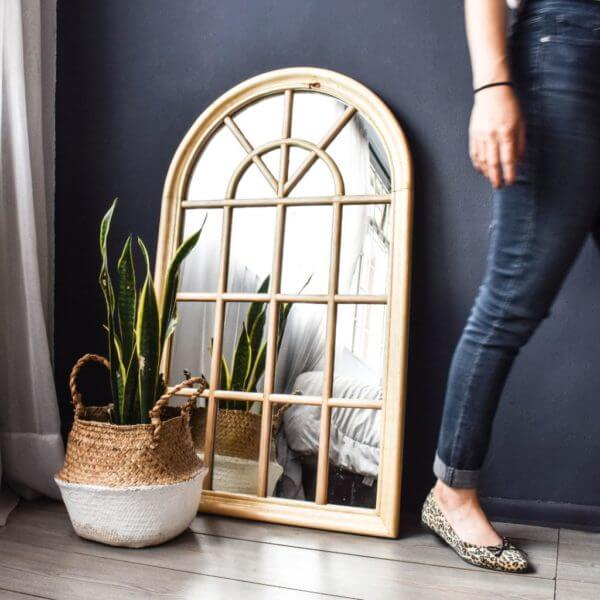 Espejos decorativos o Espejos para baños ventana madera Ebani