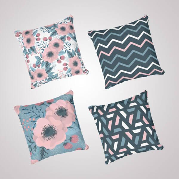 Kit cojines Geometric Pink