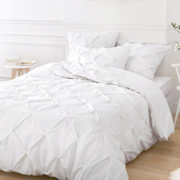 Edredon o Duvet pinch blanco Ebani ropa de cama