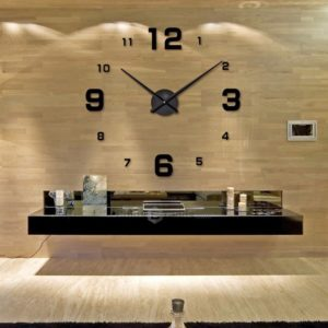reloj de pared desi negro