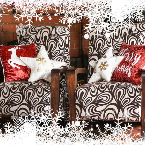Kit cojines Navidad Velvet Wine