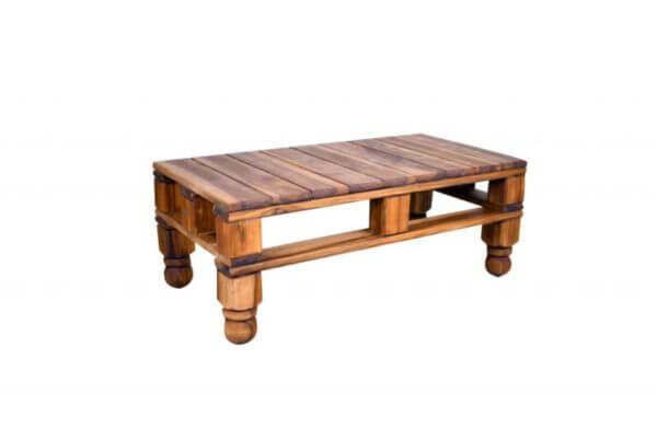 Mesa de Centro Firenze Vintage en madera maciza de Nogal nativo