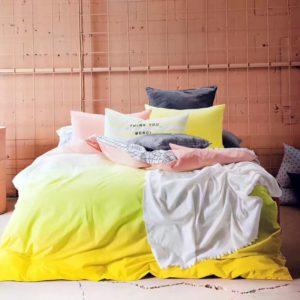 Edredon o Duvet degrade amarillo Ebani