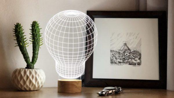 Lámpara LED Bombilla 3D