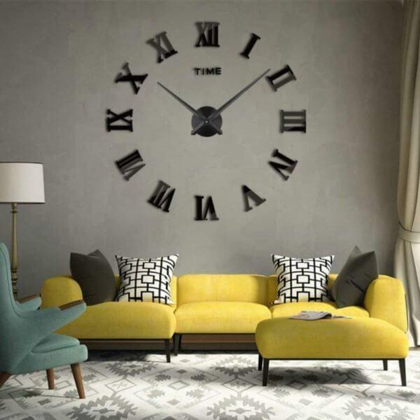 Reloj de pared romi grande de gran formato ebani colombia decoracion