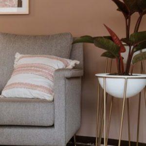 Materas decorativas para hogar Trea dorada baja 8 ebani