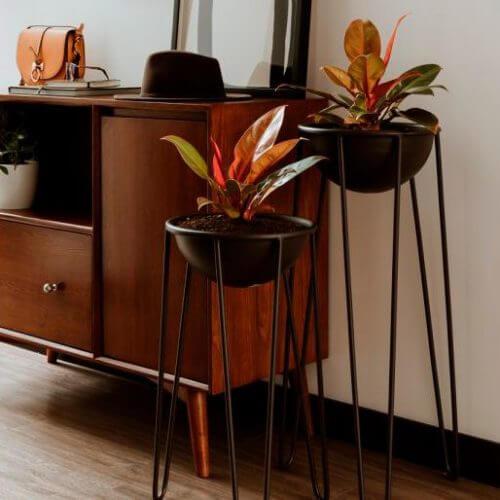 Materas decorativas para hogar Trea negra alta 1 ebani