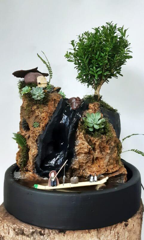Fuente Natural Zen con Casa