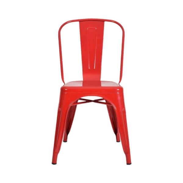 Silla Auxiliar Tolix Metálica Brillante Roja