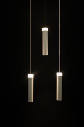 Lámpara de techo Gota Desigual x 3 Blanca