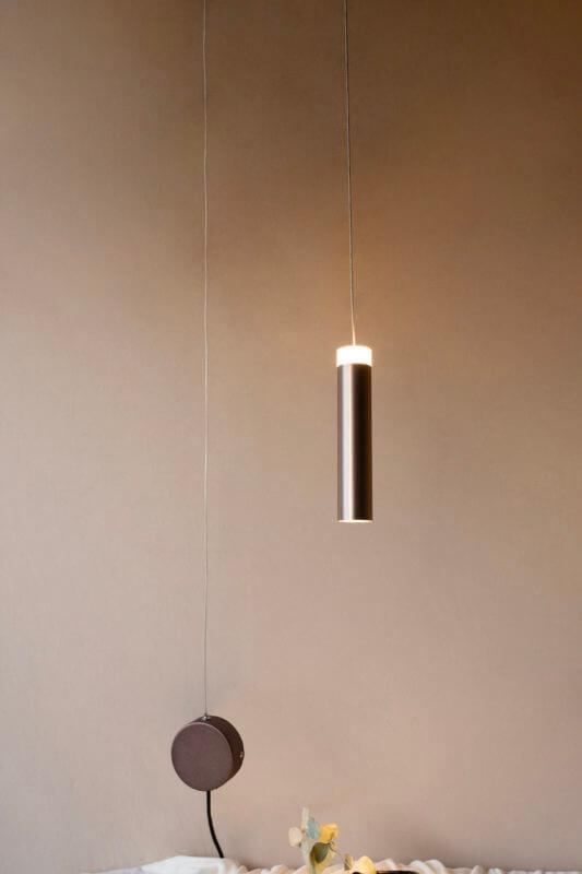 Lámpara de techo Gota Desigual Café Anodizado