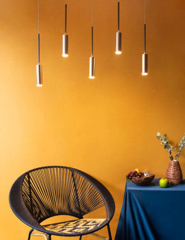 Lámpara de techo Gota x 5 Café Anodizado