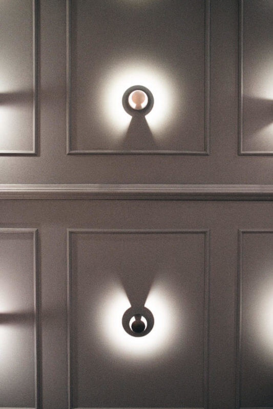Lámpara de pared Jano Negra