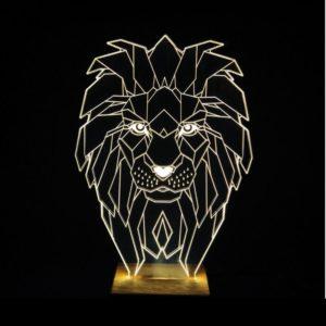 Lampara Led para mesita de noche Lion Brightness ebani