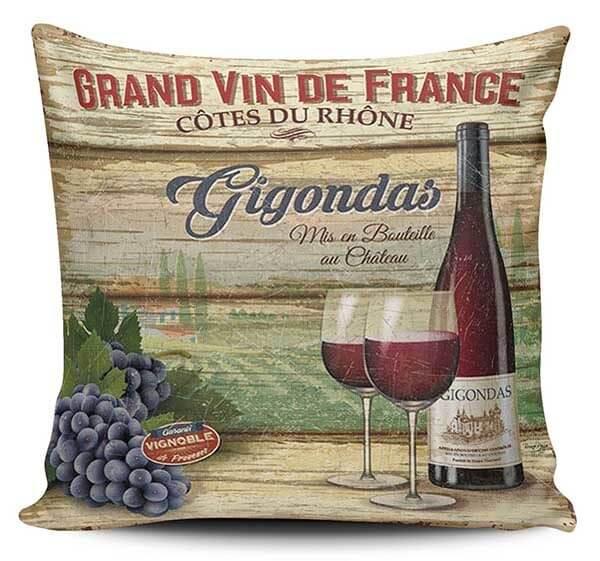 Cojines Decorativos Vino Vintage 01