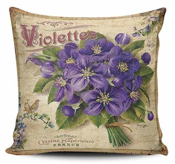 Cojines Decorativos Violetas 01 Vintage