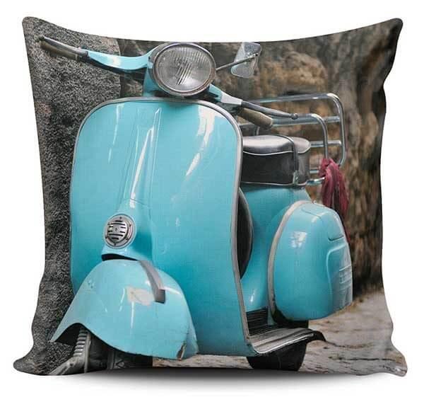 Cojines Decorativos Vespa Azul