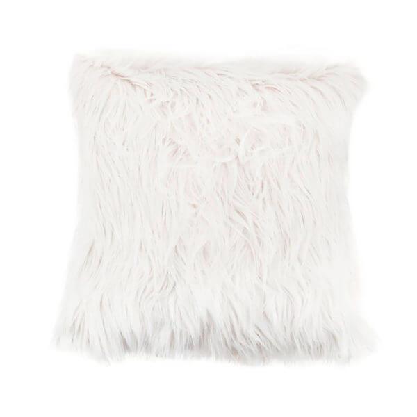 Cojín peludo Mink Blanco