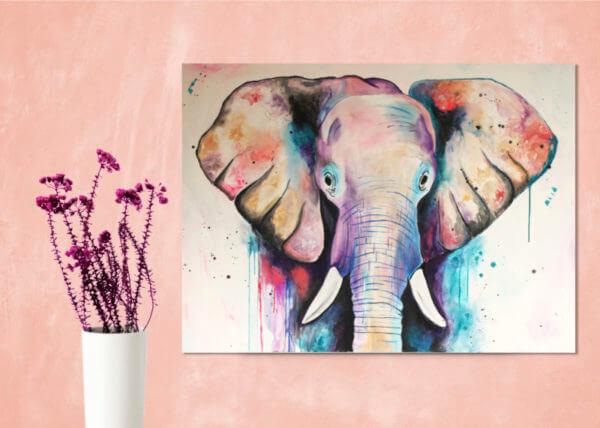"""Obra de Arte """"Elefante Mila"""""""