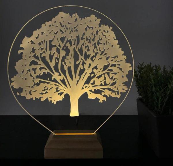Lámpara LED árbol