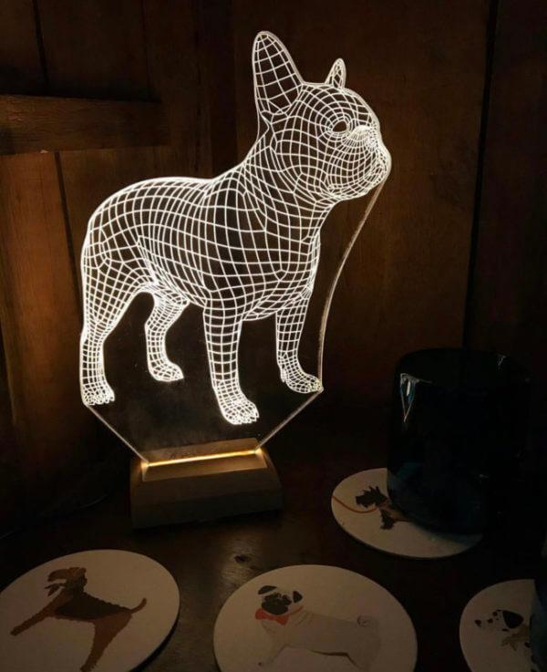 Lámpara LED Bulldog Francés