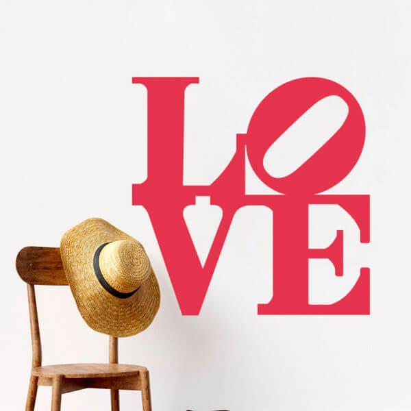 """Vinilo Decorativo de Letras """"Love"""""""
