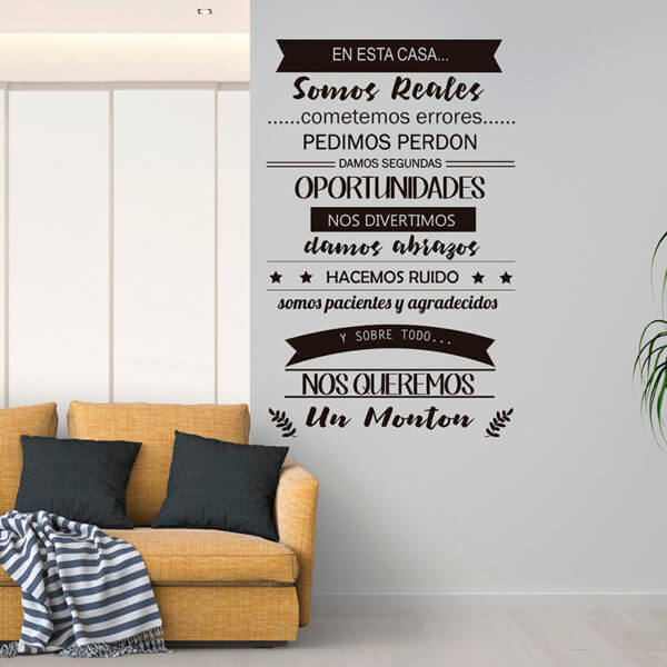 Vinilo Decorativo de Texto Esta Casa