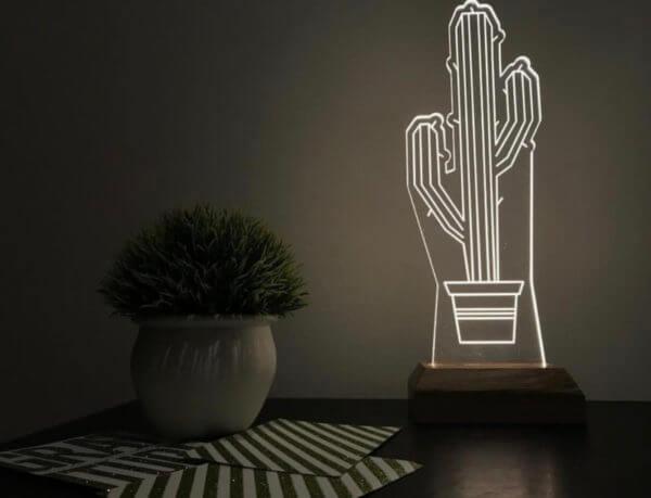 Lámpara LED Cactus