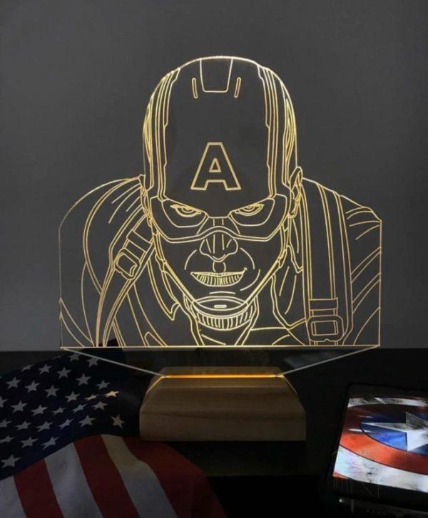 Lámpara LED Capitán America