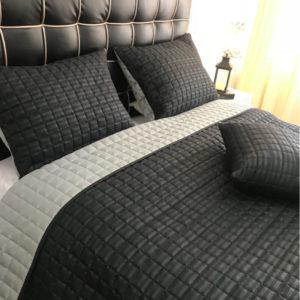 Edredon Quilt Doble Faz Negro - Gris 1