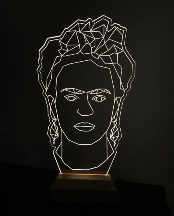 Lámpara LED Frida Khalo