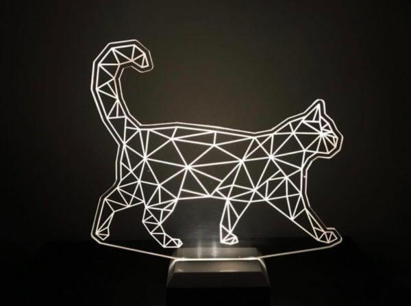 Lámpara LED Gato Geométrico