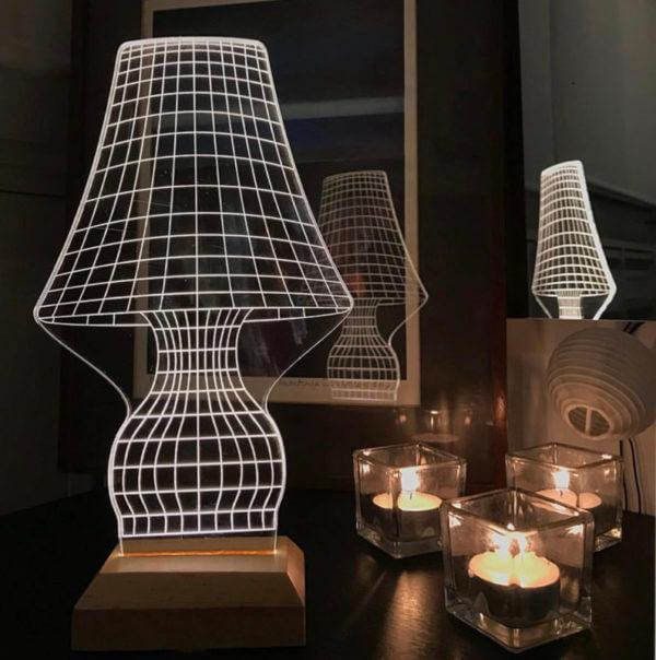 Lámpara LED Perspectiva 3D