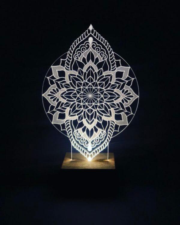 Lámpara LED Magical Mandala Flower