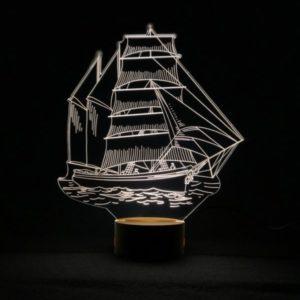 Lámpara LED Barco Pirata