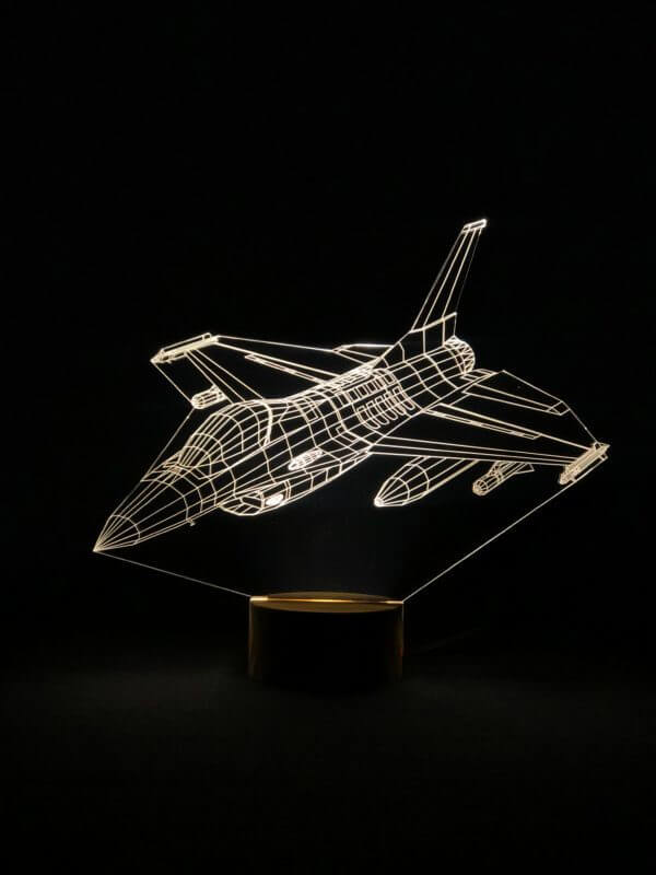 Lámpara LED F-16 Fighting Falcon