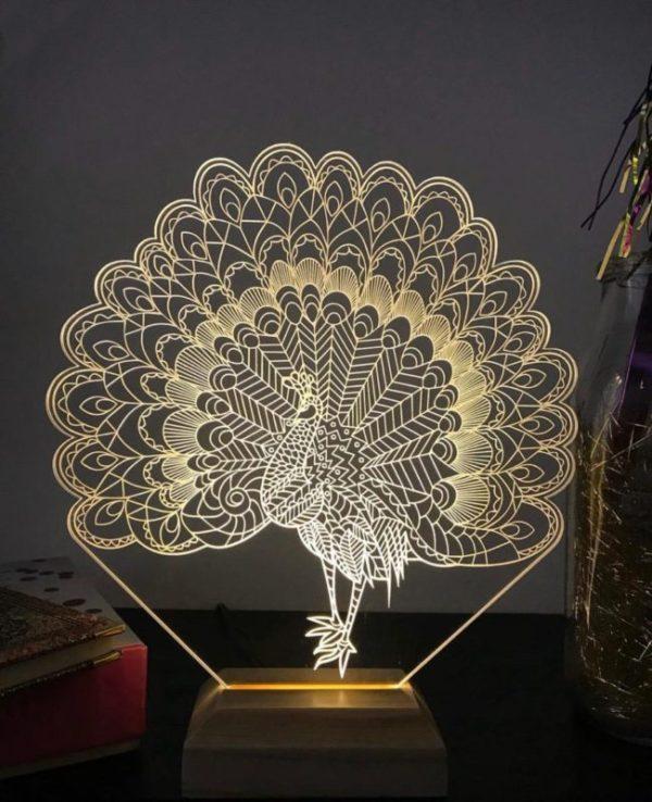 Lámpara LED Pavo Real