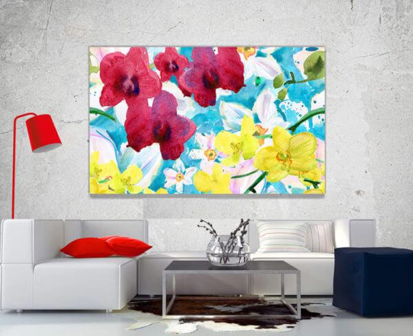 cuadro decorativo flores vintage 19