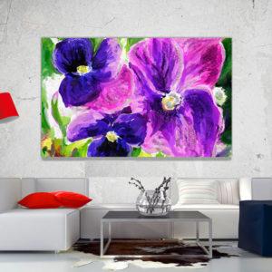 cuadro decorativo flores vintage 34