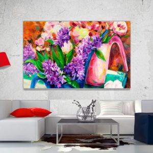 cuadro decorativo flores vintage 35