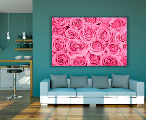 Cuadro Decorativo Rosas Rosas 01