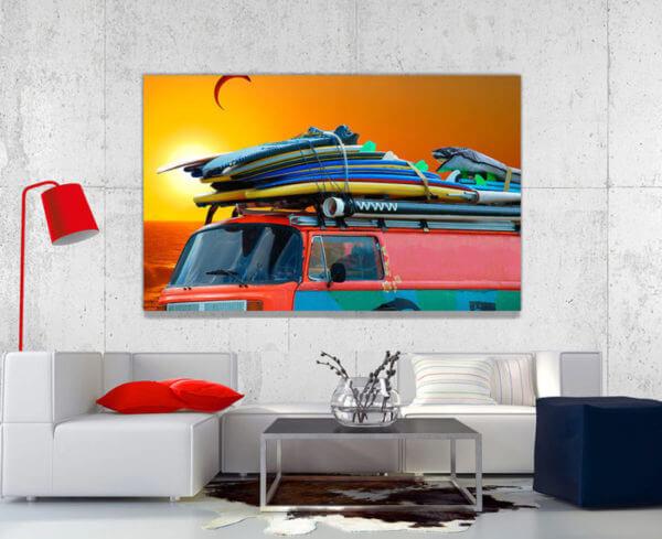 cuadro decorativo tablas surf