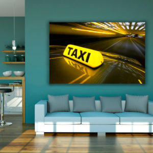 cuadro decorativo taxi tunel